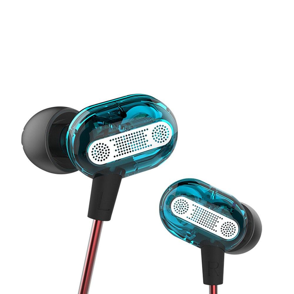 Mosunx dinâmica de alta fidelidade dupla movimentação in-ear earbudss esportes à prova de som earbudss com microfone ergonômico design9