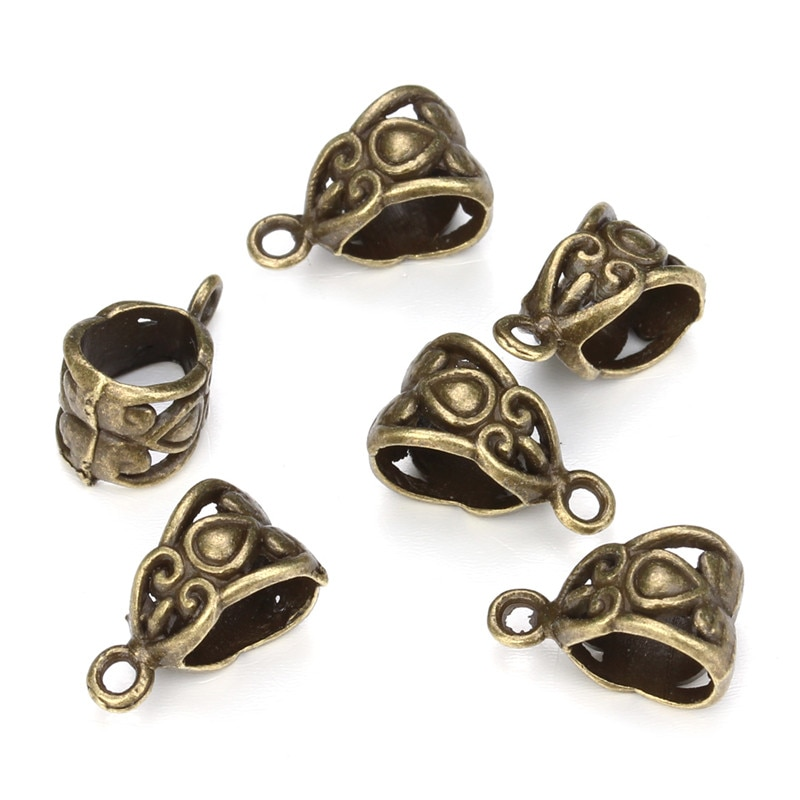 30pcs/lot Ancient Cyan/Silver Alloy 8 Styles Pendant Buckle Necklace Decorations For Handmade Crafts
