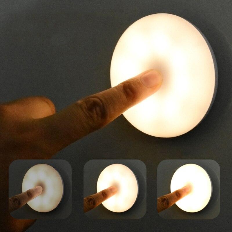 pode ser escurecido led luz da noite controle de toque luz do quarto bebe lampada