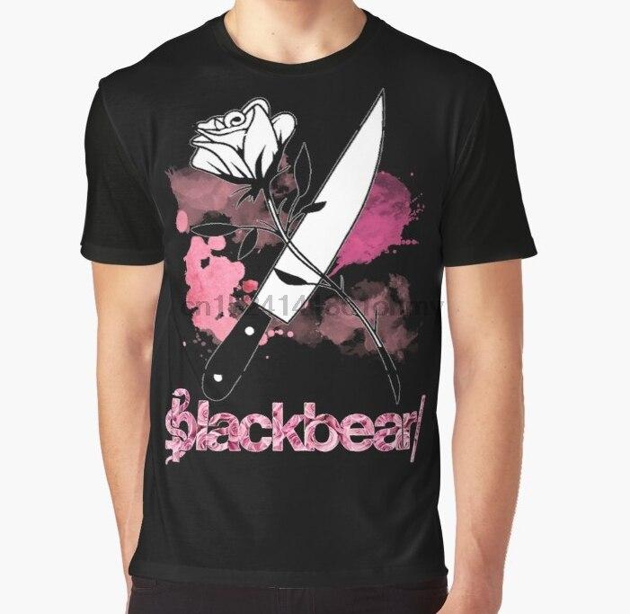 Camiseta estampada en 3D para mujer, divertida camiseta para hombre, Blackbear, camiseta con gráfico de Rosa y cuchillo