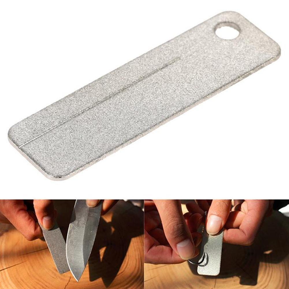 Melhor mini bolso edc diamante apontador de pedra chaveiro peixe gancho afiar ferramentas moagem afiador ao ar livre chaveiro gancho s3j0