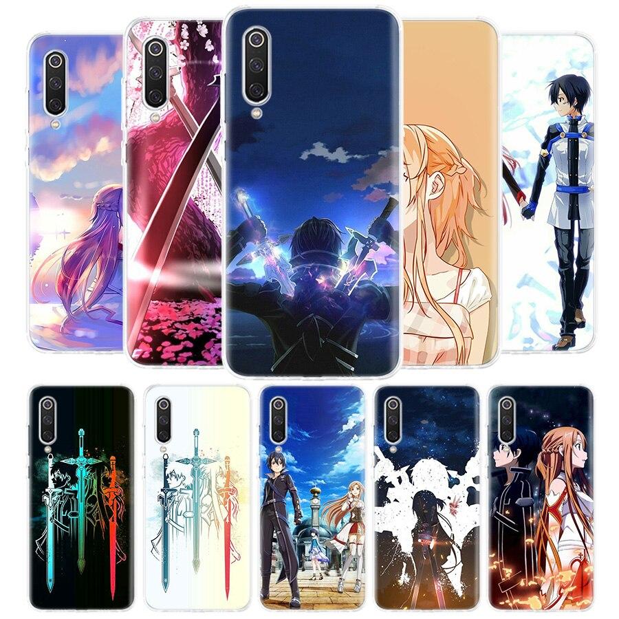 Sword Art-funda kirito funda de teléfono para Xiaomi Redmi Note 9S 9 8 8T 7 6 Pro 6A 4X 7A 8A S2 5A 5 Mi 8 9 Lite Pro CC9 F1 Coqu