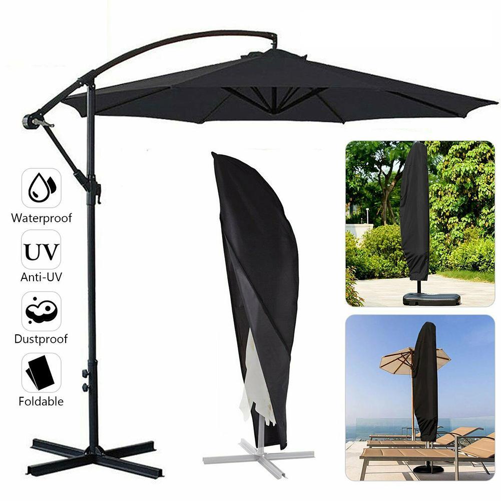 Водонепроницаемая ткань Оксфорд Открытый Зонт от Банана покрытие тенты дождевик анти-УФ зонтик сад всепогодный патио зонтик крышка