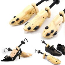 BSAID 1 Piece Shoes Stretcher Wooden Shoe Tree Shaper Rack,Wood Adjustable Zapatos De Homb Expander