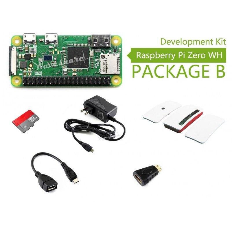 Raspberry Pi Zero WH (встроенный Wi Fi предварительно припаянные головки) тип B Micro SD карта