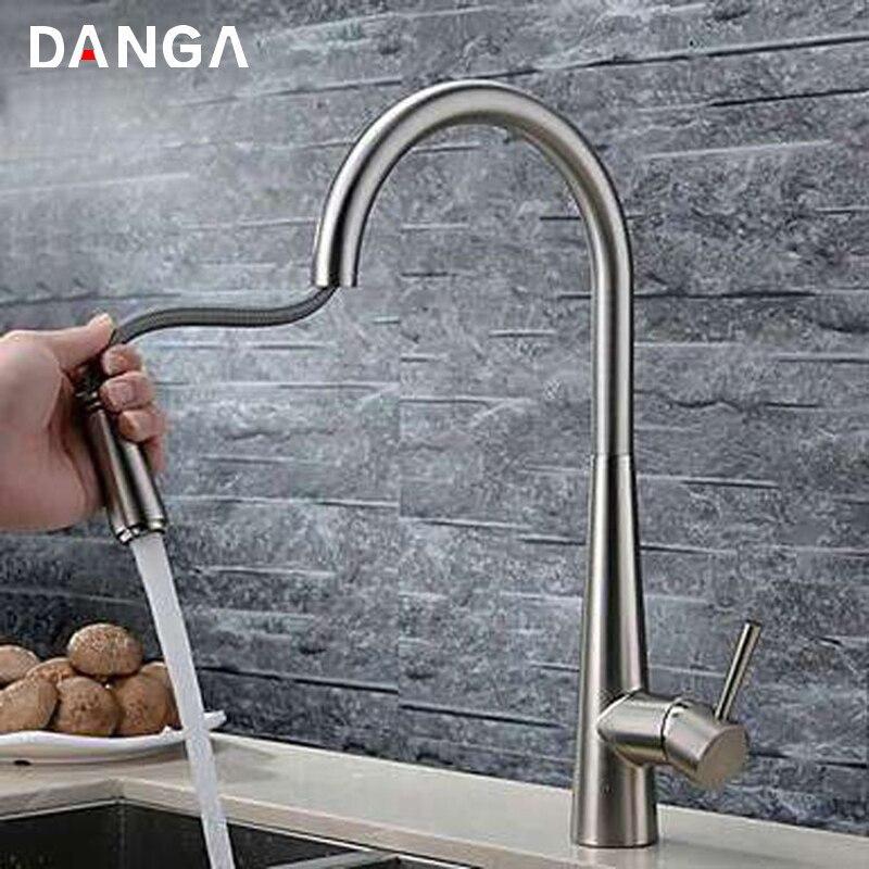 صنبور مطبخ نحاسي ، خلاط حمام دوار عالمي ، 360 درجة ، أبيض ، أسود ، مقاوم لرذاذ الماء الساخن والبارد