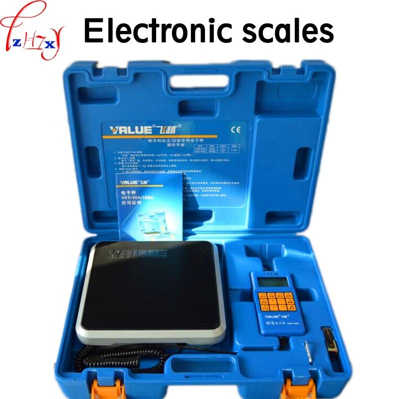 9V אלקטרוני בקנה מידה VES-50A דיוק של קר מדיה נקרא כמותיים פלואור איזון בקנה מידה קירור כלים 1PC