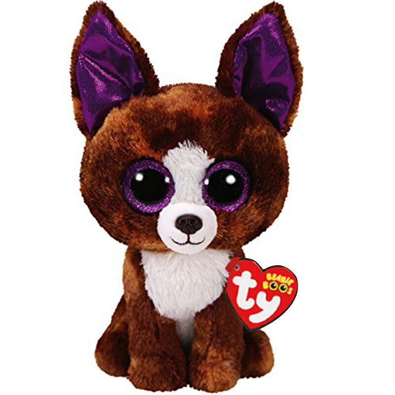 """Ty Rose Dexter собака Чихуахуа плюшевые игрушки животных куклы 6 """"15 см"""