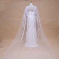 Capeletes vintage para xales femininos e envoltórios para vestido de noite tull casamento cabo bolero cobrir elegante capa de noiva de fadas j07