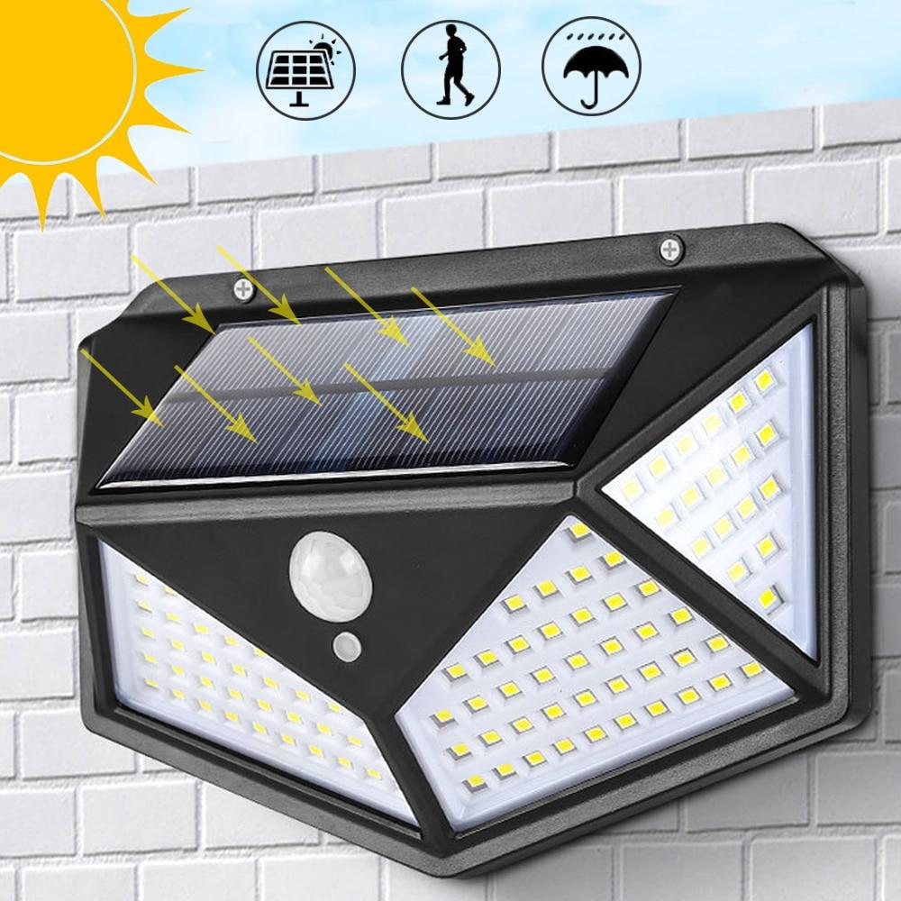 100LED Solar Lamp Floodlight With Sensor PIR Motion Sensor Solar Led Light Garden Outdoor Solar Led Lights Wall Lamp Solar Light