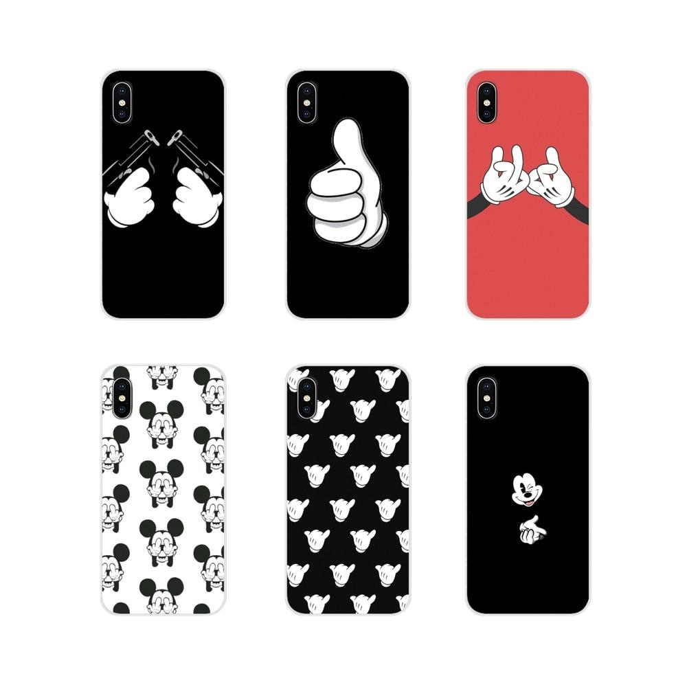 Funda de teléfono para Xiaomi Mi4, Mi5, Mi5S, Mi6, Mi A1, A2, A3, 5X, 6X, 8 CC, 9 T, Lite, SE Pro, accesorios con diseño de Mickey Mouse