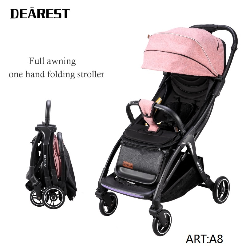 DEAREST A8L Stroller Can Sit Or Lie Lightweight Folding Baby Stroller Ultra-Light Portable Stroller Children's Walker enlarge
