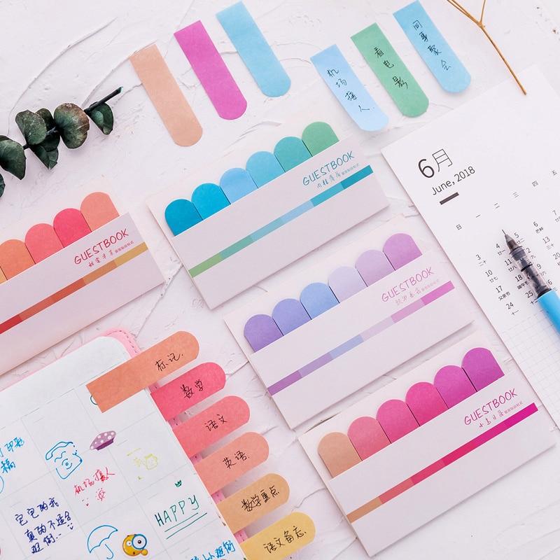 Bloc de notas con gradiente de Color, marcapáginas para oficina, suministros escolares,...