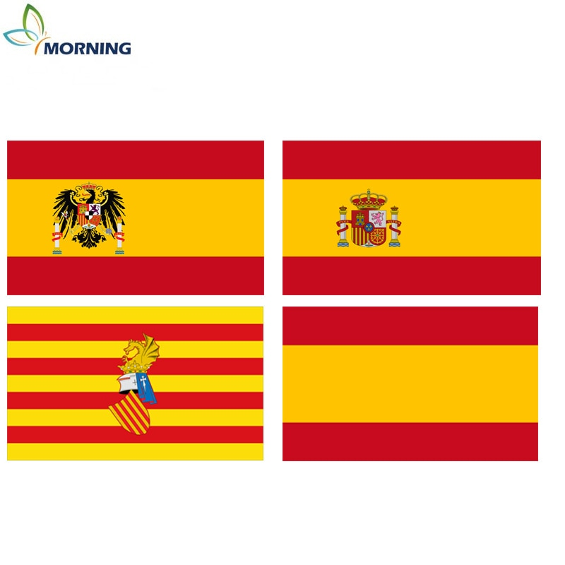 Mañana 150*90cm, bandera histórica de España, impresión de un solo lado, doble cara, bandera decorativa de poliéster