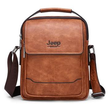 Men's Bag Jeep Counter Quality New Shoulder Handbag Cross Fashion Briefcase One Product