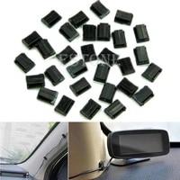 car wire cord clip cable holder tie clip fixer organizer drop adhesive clamp new e56b