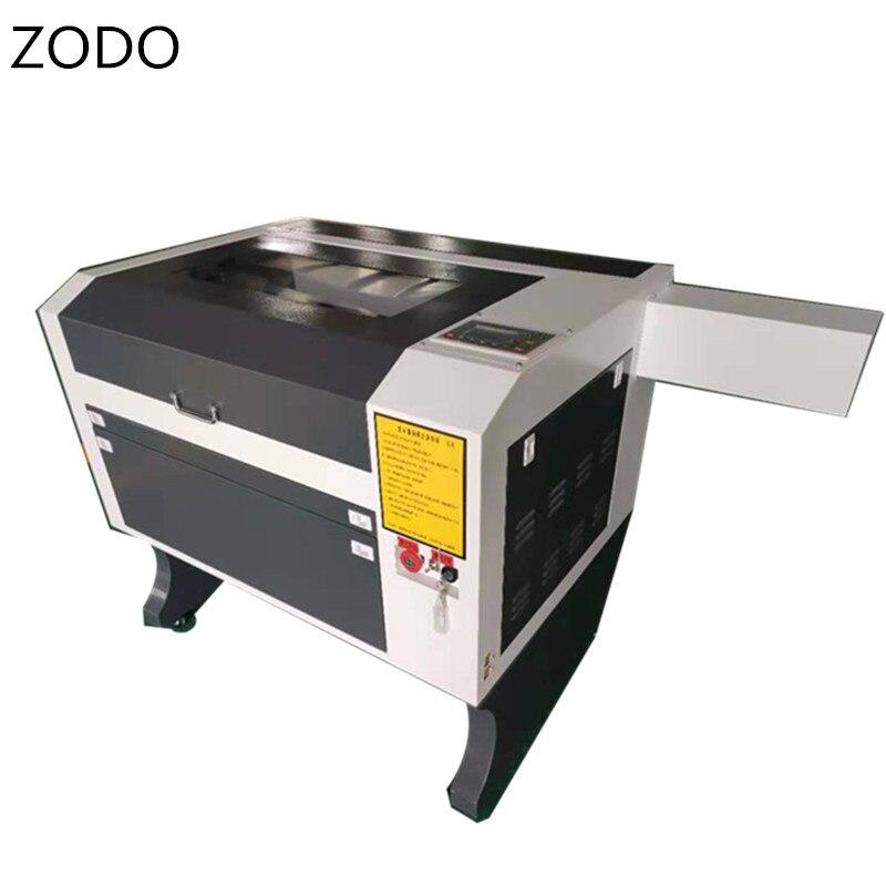 Acrílico co2 máquina de corte a laser 4060 co2 60 w cortador a laser e gravador 400*600 com controlador ruida opcional reci tubo laser