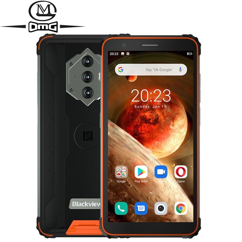 Blackview BV6600 NFC 8580 мА/ч, надежные смартфоны Android с поддержкой 4G 10 Восьмиядерный 4 Гб 64 Гб IP68 Водонепроницаемый противоударный 5,7 дюйм мобильные телефо...