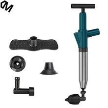 Desatascador de desagüe de inodoro, desatascador de alta presión, limpiador de chorro potente Manual, equipo de dragado neumático, tubería obstruida