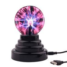 Magie USB Plasma Ball Lampe Touch Sensitive Light Ideal Für Kinder Geschenk Haben Spaß Blitz Kugel Neuheit Beleuchtung