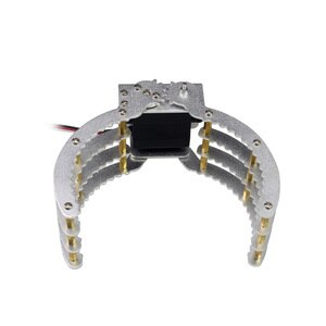 Robot Metal Arm Kit Servo Drive Claw Gripper for Arduino Mechanical Arm (Large Metal Claw with 17KG Torque Servo)