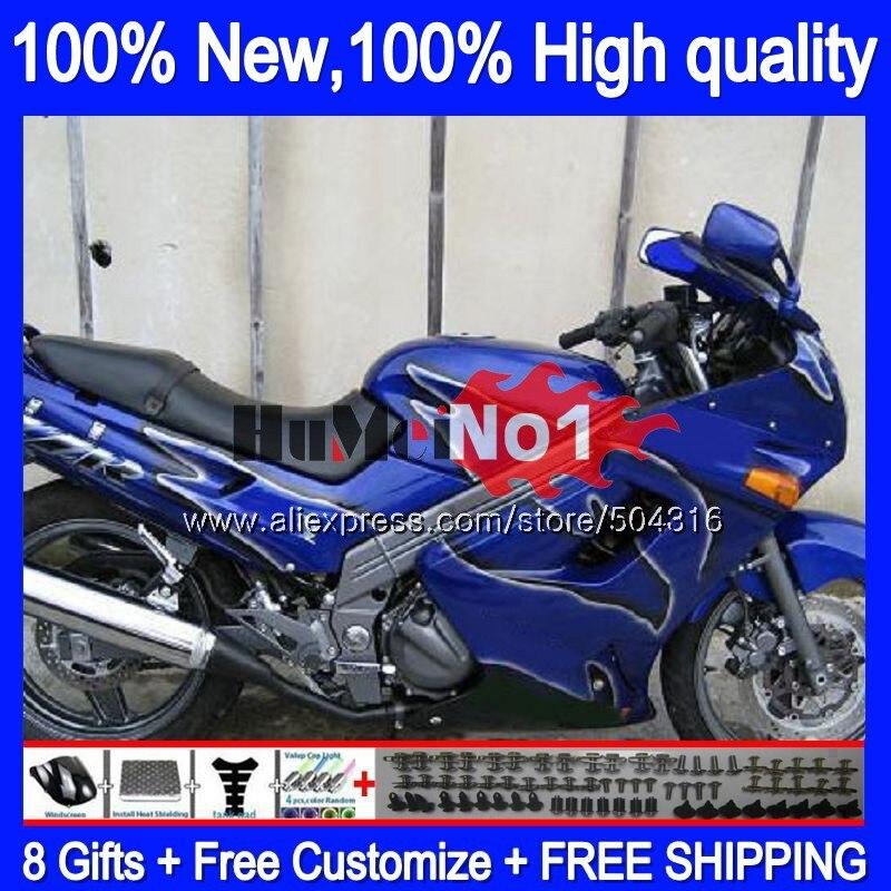 الجسم عدة لكاواساكي ZZR 250 90-99 ZZR250 90 95 96 97 98 99 81MC.25 جديد الأزرق ZZR-250 1990 1995 1996 1997 1998 1999 هدية
