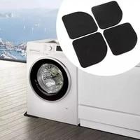4 piece refrigerator washing machine mat multifunctional shock proof mat non slip mat vertical refrigerator washing machine mat