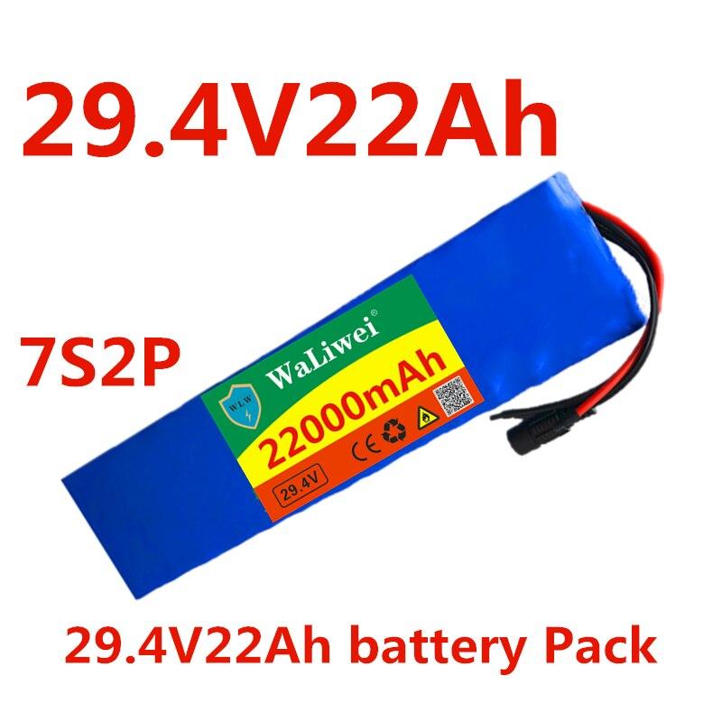 24 V 22ah original 7s2p 18650 batería de iones de litio 22000mah 29,4 V bicicleta eléctrica/motocicleta/Cargador eléctrico no incluido
