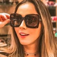 square sunglasses women 2021 luxury brand designer retro high quality oversized fashion frame gafas de sol mujer uv400 outdoor