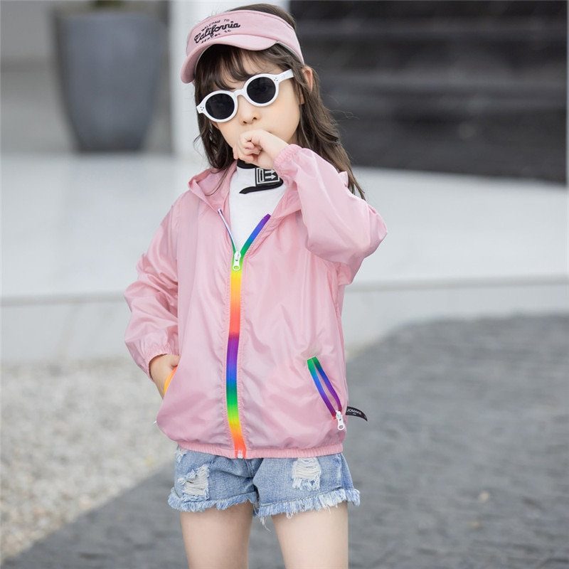 AliExpress - New Kids Coat Summer Boy Girl Solid Hooded Zipper Anti Radiation Thin Breathable Jacket Child 5 6 7 8 9 Years Exquisite Clothing
