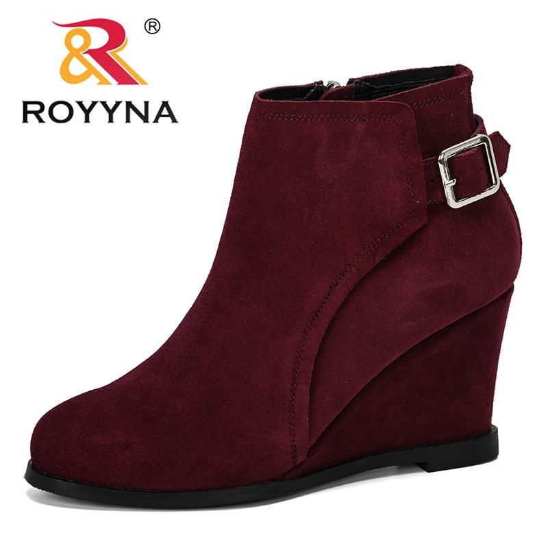 ROYYNA جديد مصمم شعبية نمط النساء مضخات عالية أسافين الكعوب السيدات أحذية الزفاف الخريف قطيع حذا فردي للسيدات الإناث مريح