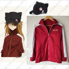 Anime EVA Asuka Langley Soryu Cosplay Kostüm Hoodie jacke mantel Tailor Made