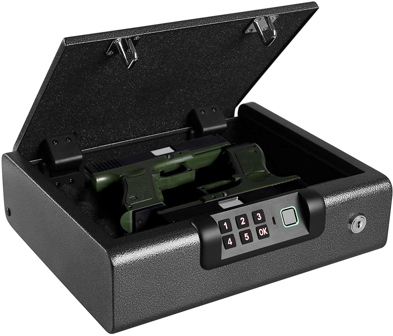 BILLCONCH Оружейный Сейф, биометрический Сейф для пистолета 4 канальный разблокировать безопасный | Просмотреть журнал металлическая тарелка н...