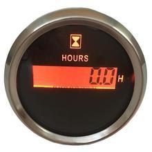 Цифровые часовые часы, водонепроницаемые, с ЖК-дисплеем и красной подсветкой, 1 шт., 52 мм