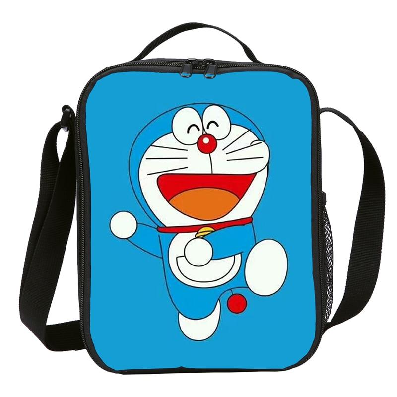 Doraemon Anime estampado Mini Japanise Cooler bolsas para niños Picnic hielo comida termal lonchera koeltas bolsa termica