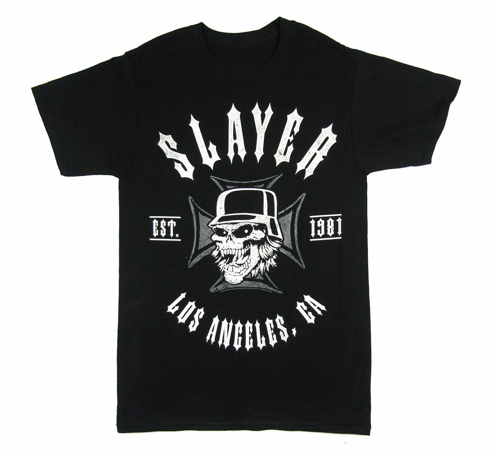 Cazadora Cruz 81 Est Camiseta negra calavera 1981 nueva banda oficial Merch...
