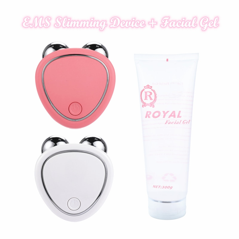 EMS Facial Massager Microcurrent Face Lift Machine Roller Skin Tightening Rejuvenation Beauty Charging Wrinkle Remover