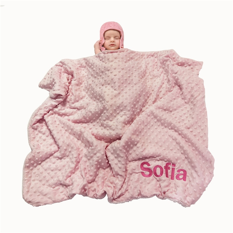 Name Personalised Newborn Baby Blanket Swaddling Baby Bedding Set Swaddle Soft Fleece Toddler Crib Bed Stroller Blanket