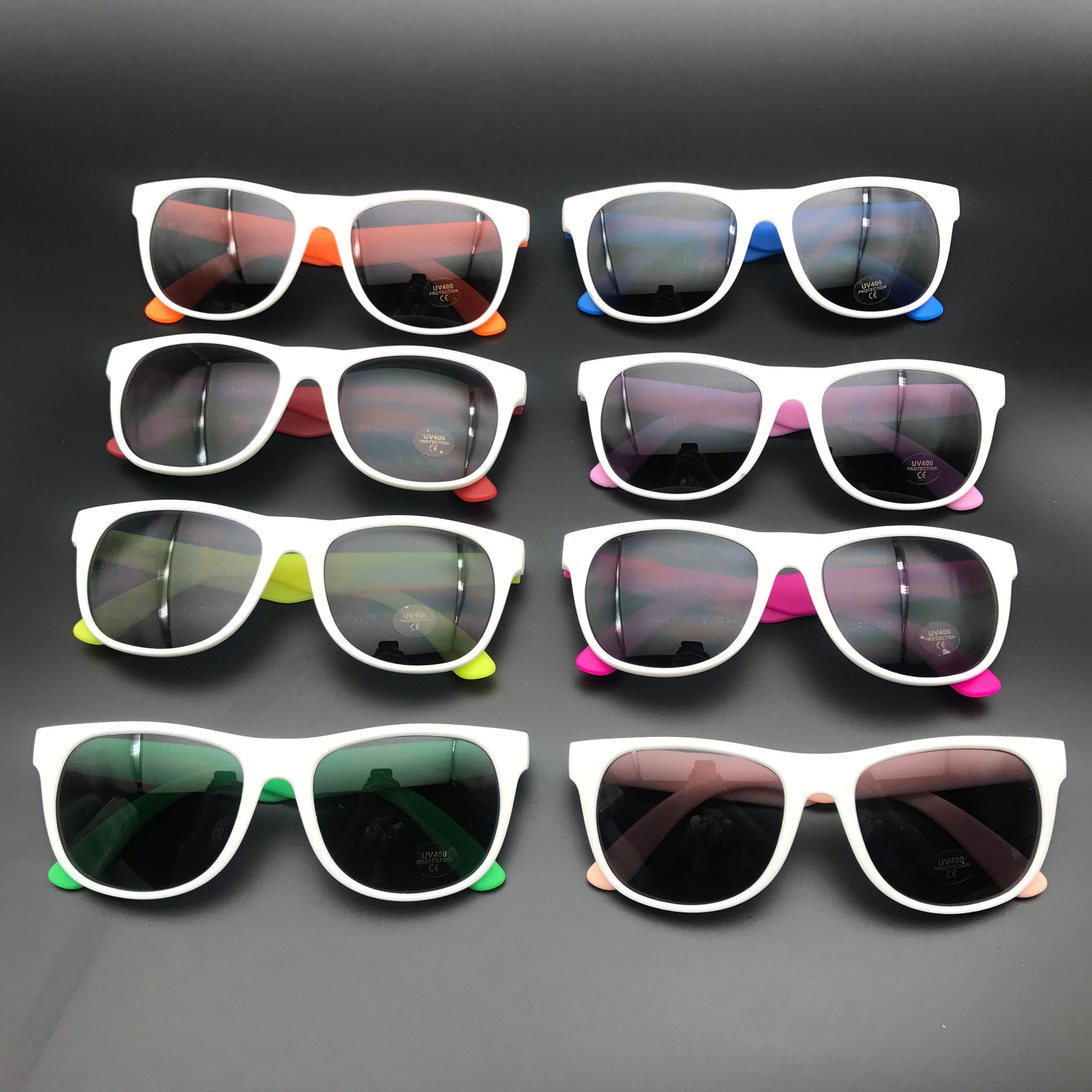 نظارات شمسية بإطار أبيض للحماية من الأشعة فوق البنفسجية ، نظارات شمسية بإطار أبيض ، حماية من الأشعة فوق البنفسجية ، طراز 80 قديم ، هدايا تذكار...
