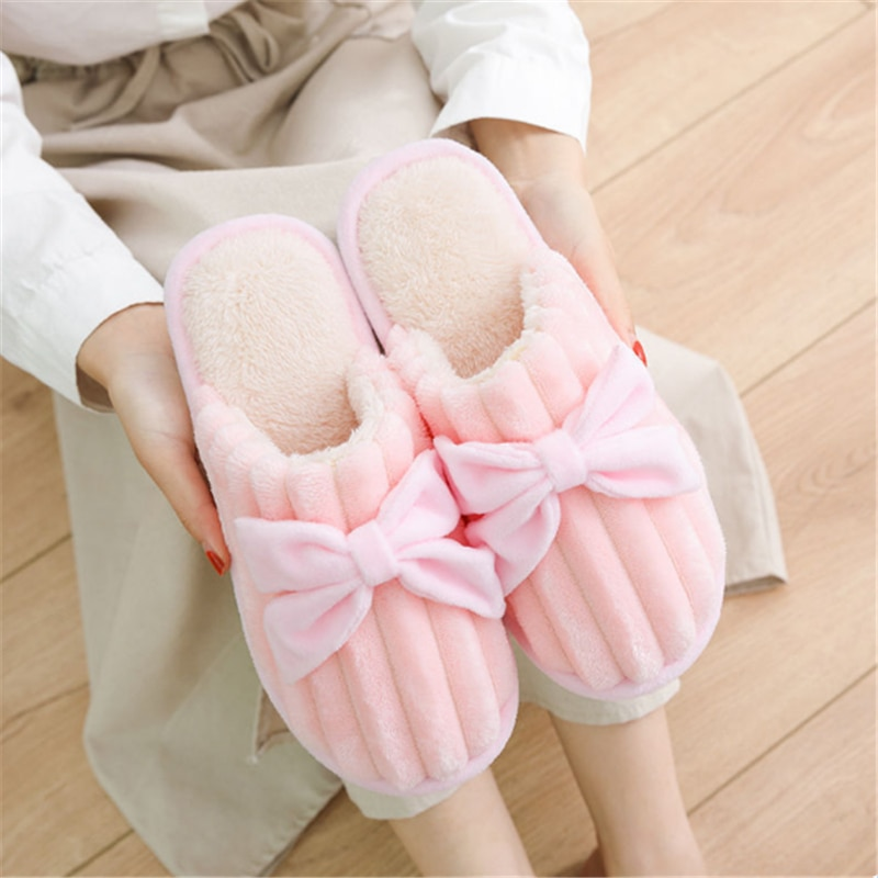 JIANBUDAN Plush Home Cotton shoes Women's Indoor Comfortable Slippers Flat Warm Home slippers Unisex style Indoor plush shoes jarycorn shoes women s straw slippers new couple shoes handmade chinese style comfortable sandals2020 summer fashion unisex home