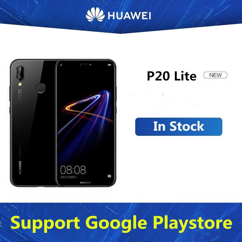 "Versión Internacional HuaWei P20 Lite móvil teléfono Kirin 659 Android 8,0 de 5,85 ""2280X1080 4GB RAM 64GB ROM 24.0MP huella dactilar NFC"