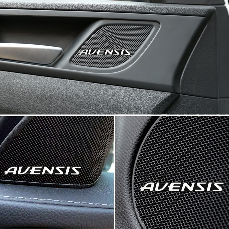 10 Uds 3D aluminio parlante altavoz estéreo insignia emblema pegatina para Toyota Avensis t25 t27 pegatinas accesorios Car-Styling