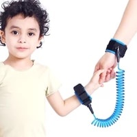 1 5m adjustable children safety harness anti lost wrist link band bracelet wristband secure for baby harness strap rope leash
