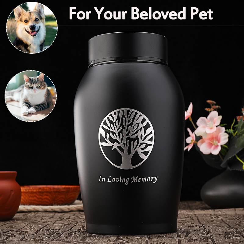 Urnas de acero inoxidable oro/Negro 2020 para mascotas, perro, gato, pájaros, ratón, incineración, cenizas, urna de recuerdo, ataúd, columpio para mascotas, recuerdos