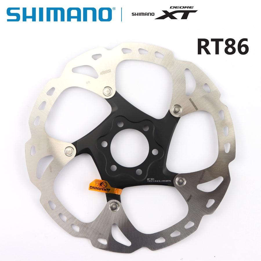 Disco de freno SHIMANO XT SM RT86 RT76, tecnología de punto de hielo, 6 pernos, disco de bicicletas de montaña M8000, SHIMANO RT86, 160MM, 180MM, 203MM, pieza MTB