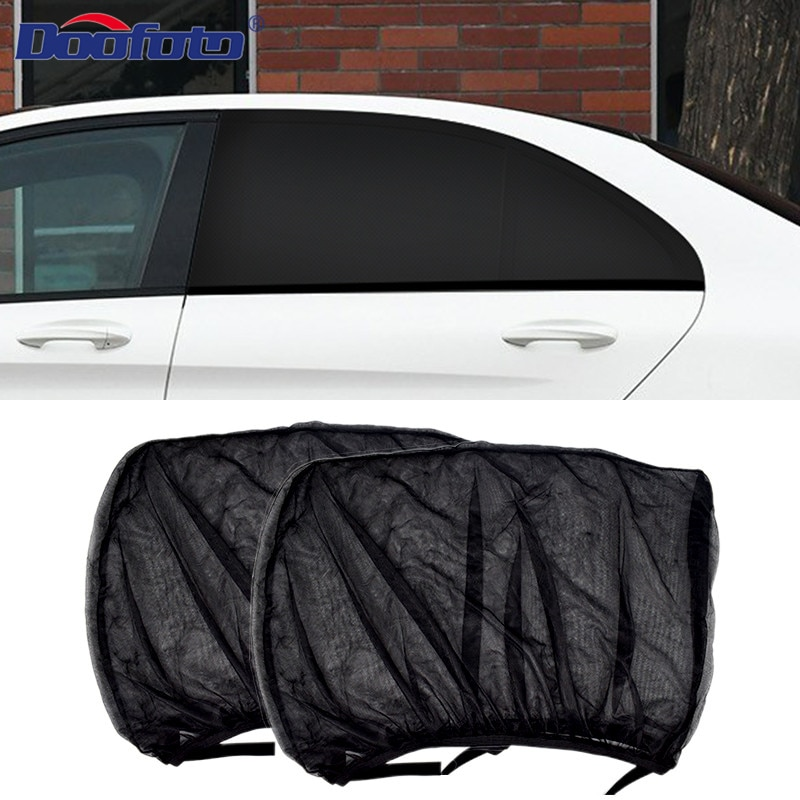 2pcs Car Sun Shade Styling Accessories Auto UV Protect Curtain Side Window Sunshade Mesh Sun Visor P