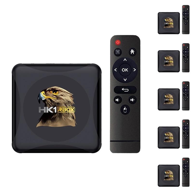 جهاز فك التشفير الخارجي HK1 RBOX Mini TV Android 10 RK3318 4K لـ Google Play ، Youtube ، HK1RBOX ، مشغل الوسائط