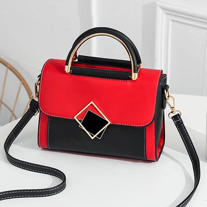 Bolso cuadrado pequeño con nueva textura de moda, bolso de hombro con personalidad versátil de grado a juego, bolso bandolera de poliuretano portátil