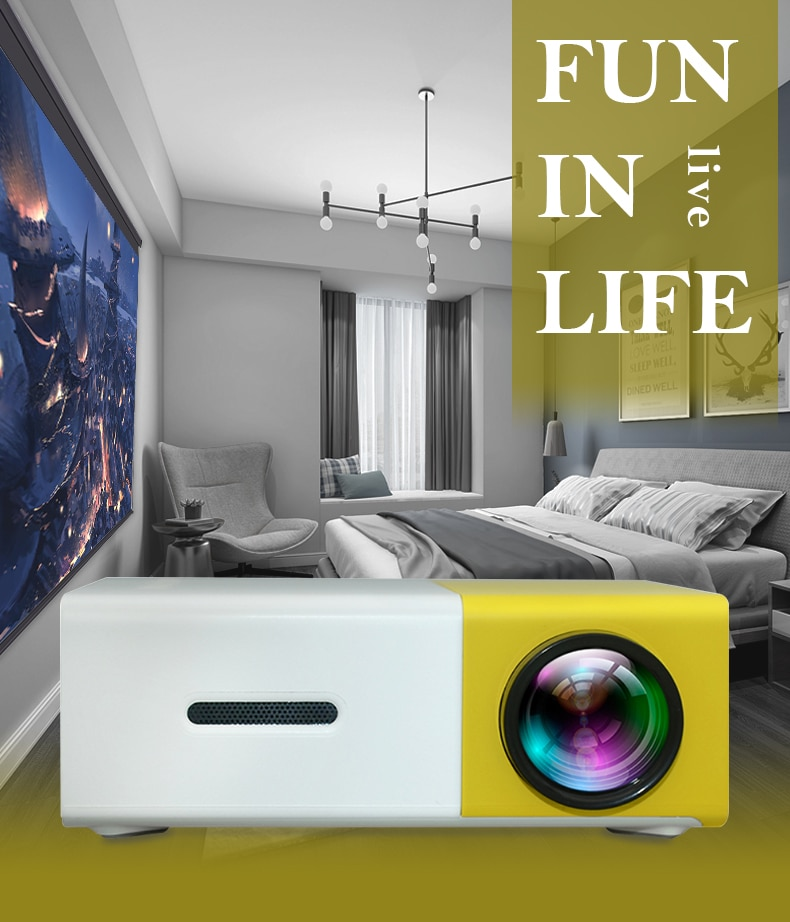 YG300 Mini Projector Led Home Theater Audio Media Game Projector Children Gift Video Player