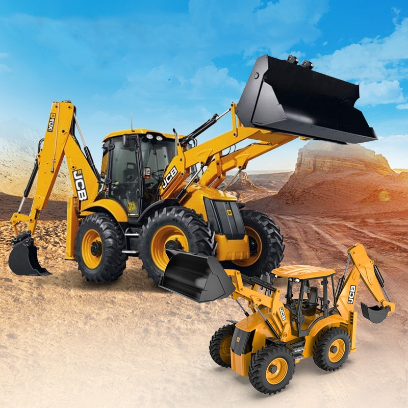Double E E589 Radio Control Excavator Bulldozer 1/20 2.4G 6 Channel RC Engineering Loader Truck Toy Gift For Kids enlarge